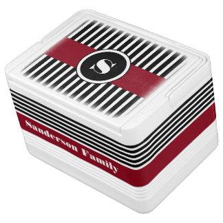 Gepersonaliseerde Koele & Moderne Strepen Igloo Koelbox
