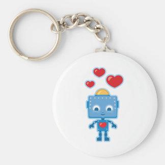 Gepersonaliseerde Kunst van de Robot van de douane Sleutelhanger
