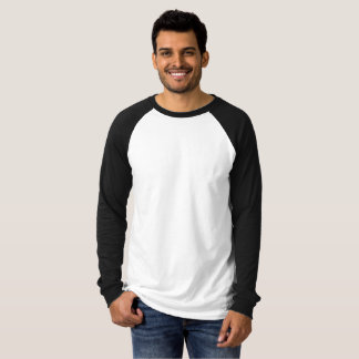 Gepersonaliseerde Large Raglan Lange Mouw T Shirt