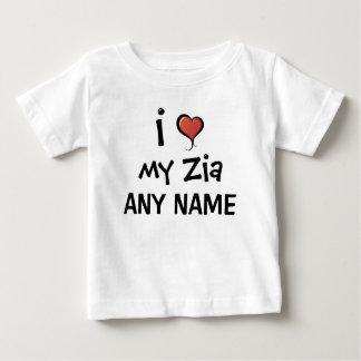 Gepersonaliseerde Liefde Zia Baby T Shirts