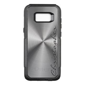 Gepersonaliseerde Metaal Radiaal van het Roestvrij OtterBox Commuter Samsung Galaxy S8+ Hoesje