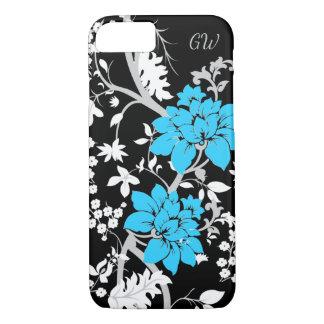 Gepersonaliseerde Moderne bloemen iPhone 8/7 Hoesje