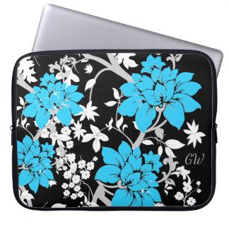 Gepersonaliseerde Moderne bloemen Laptop Sleeve