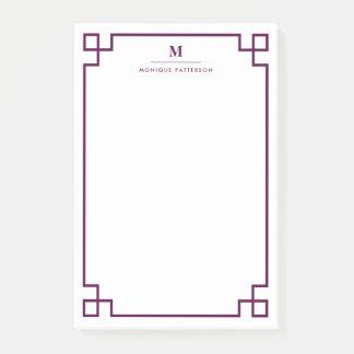 Gepersonaliseerde Monogram van de Grens van de Post-it® Notes