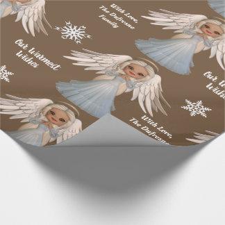 Gepersonaliseerde Mooie Engel Cadeaupapier