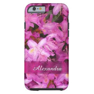 Gepersonaliseerde mooie roze bloemfoto tough iPhone 6 hoesje