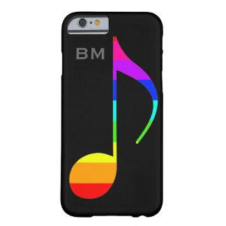 gepersonaliseerde music_note regenboog-kleuren barely there iPhone 6 hoesje
