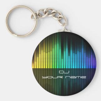 Gepersonaliseerde naam DJ keychain Sleutelhanger