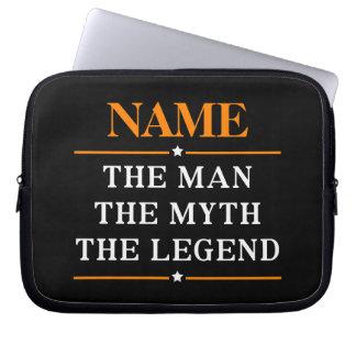 Gepersonaliseerde Naam het Man de Mythe de Legende Computer Sleeve