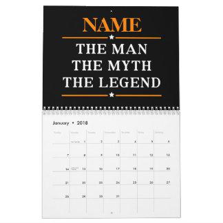 Gepersonaliseerde Naam het Man de Mythe de Legende Kalender