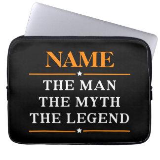 Gepersonaliseerde Naam het Man de Mythe de Legende Laptop Sleeve