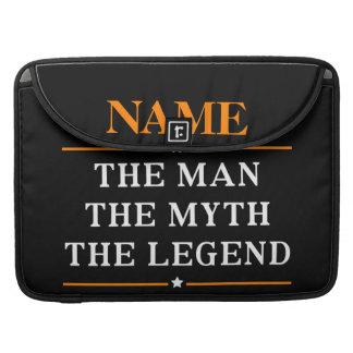 Gepersonaliseerde Naam het Man de Mythe de Legende MacBook Pro Beschermhoes