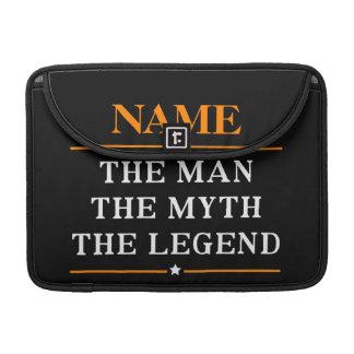 Gepersonaliseerde Naam het Man de Mythe de Legende MacBook Pro Sleeve