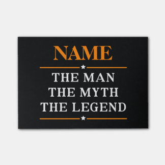 Gepersonaliseerde Naam het Man de Mythe de Legende Post-it® Notes