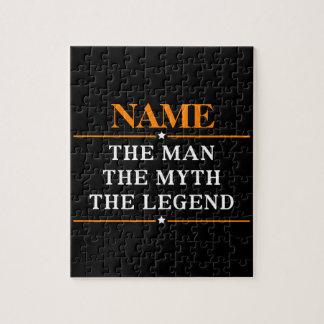 Gepersonaliseerde Naam het Man de Mythe de Legende Puzzel