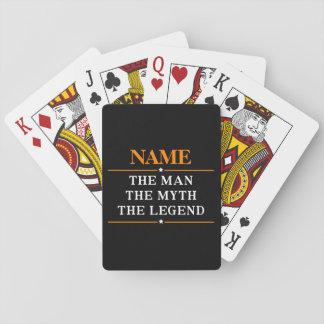 Gepersonaliseerde Naam het Man de Mythe de Legende Speelkaarten