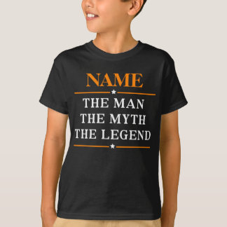 Gepersonaliseerde Naam het Man de Mythe de Legende T Shirt