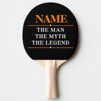 Gepersonaliseerde Naam het Man de Mythe de Legende Tafeltennis Bat
