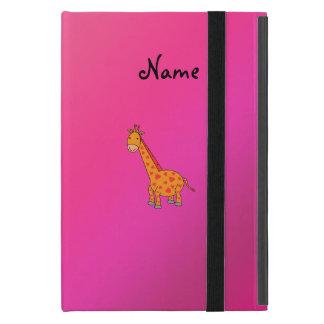 Gepersonaliseerde naam leuke giraf iPad mini hoesje