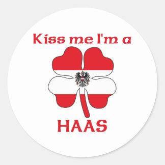 Gepersonaliseerde Oostenrijks kust me ik ben Haas Ronde Stickers