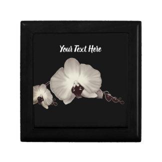 Gepersonaliseerde orchideeën decoratiedoosje