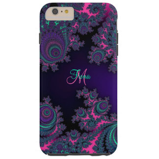 Gepersonaliseerde Paarse Fractal iPhone 6 plus Tough iPhone 6 Plus Hoesje
