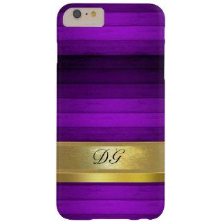 Gepersonaliseerde Paarse iPhone 6 van het Patroon Barely There iPhone 6 Plus Hoesje