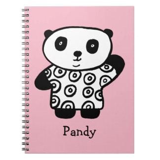 Gepersonaliseerde Pandy de Panda Notitieboek