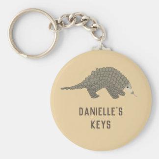 Gepersonaliseerde Pangolin Keychain Sleutelhanger