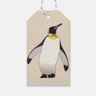 Gepersonaliseerde pinguïn cadeaulabel