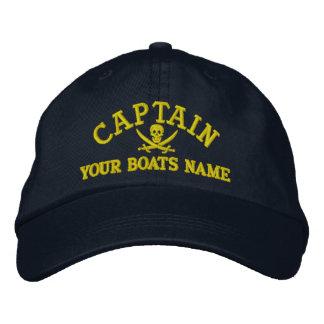 Gepersonaliseerde piraat varende kapiteins geborduurde pet