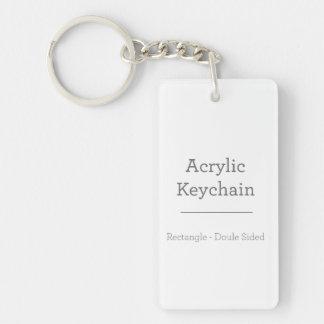 Gepersonaliseerde Rechthoekige Keychain 2-Zijden Rechthoekige Acryl Sleutelhanger