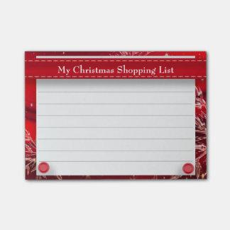Gepersonaliseerde Rode het Winkelen van Kerstmis Post-it® Notes