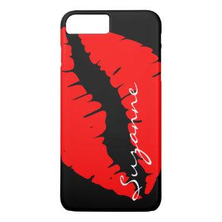 Gepersonaliseerde Rode Lippen iPhone 8/7 Plus Hoesje
