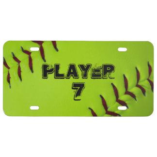 Gepersonaliseerde softballnummerplaat nummerplaat