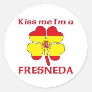 Gepersonaliseerde Spaans kust me ik ben Fresneda Ronde Sticker