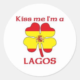 Gepersonaliseerde Spaans kust me ik ben Lagos Ronde Stickers