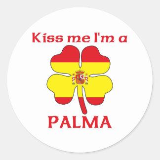 Gepersonaliseerde Spaans kust me ik ben Palma Ronde Stickers