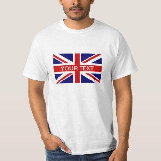 Gepersonaliseerde T-shirts met de Britse vlag van