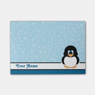 Gepersonaliseerde van de Sneeuwvlok van de Pinguïn Post-it® Notes