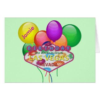 Gepersonaliseerde Verjaardag in de Kaart van Las