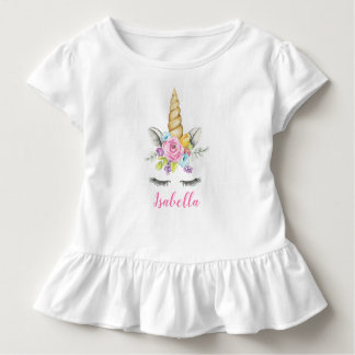 Gepersonaliseerde Verjaardag van de Eenhoorn van Kinder Shirts