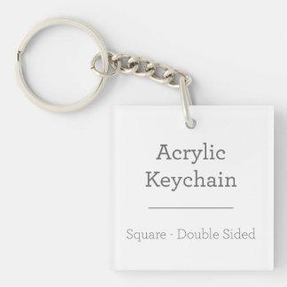 Gepersonaliseerde Vierkante Keychain Sleutelhanger
