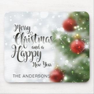 Gepersonaliseerde Vrolijke Kerstboom | Mousepad Muismatten