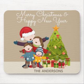 Gepersonaliseerde Vrolijke Kerstmis van de Familie Muismatten