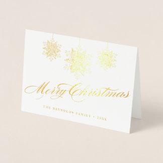 Gepersonaliseerde Vrolijke Kerstmis van Fancy Folie Kaarten