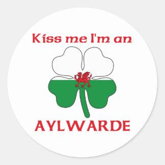 Gepersonaliseerde Wels kust me ik ben Aylwarde Ronde Sticker