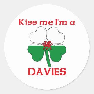 Gepersonaliseerde Wels kust me ik ben Davies Ronde Sticker