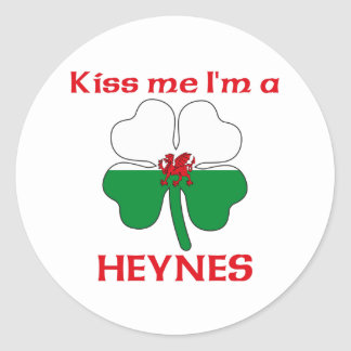 Gepersonaliseerde Wels kust me ik ben Heynes Ronde Stickers