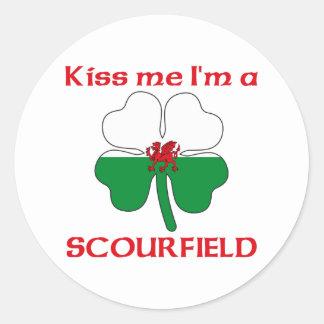 Gepersonaliseerde Wels kust me ik ben Scourfield Ronde Sticker